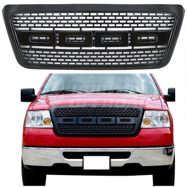 Ford F150 04'-08' Raptor Type Gloss Black Grille
