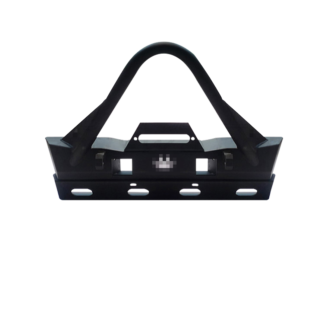 Front Bumper Trail Stinger - Tabs Black Powder-Coated for Jeep Wrangler JK