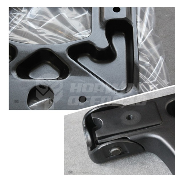 Spare Tire Mounting Kit HD Hinged Carrier for Jeep Wrangler JK