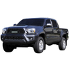 12-15 Toyota Tacoma 1PC Cutout Evolution Black Stainless Steel Wire Mesh Grille With One LED Light for Toyota Tacoma