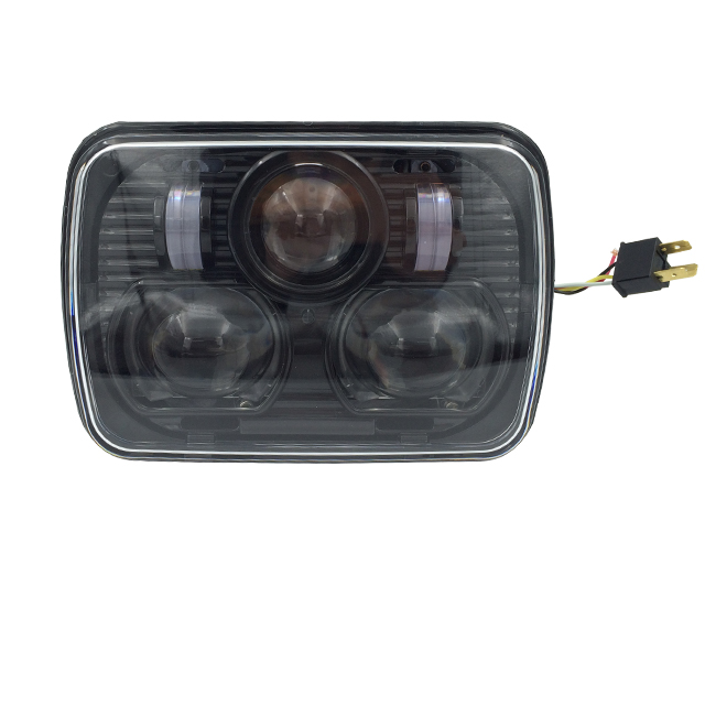 7 Inch 7X5 Led Square Headlight (PC) for Jeep Wrangler JK