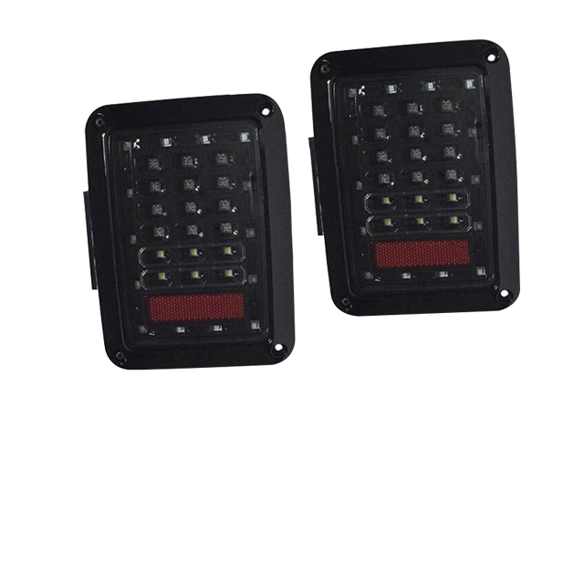 Jeep Jk Wrangler In Pro Car Wear LED Tail Lights (Black) European & American Model for Jeep Wrangler JK