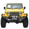 87-06 Jeep Wrangler YJ/TJ Heavy Duty Rock Crawler Front Bumper with LED Lights for Jeep Wrangler TJ