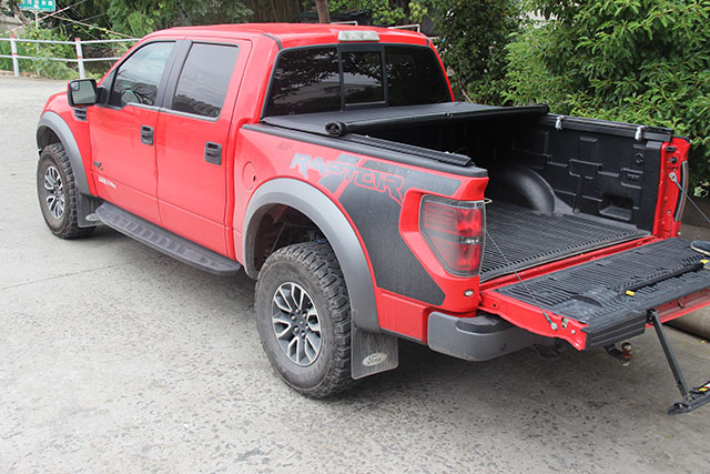 Soft Lock Rolling Up Tonneau Cover for Ford F150 04-18 6.5'' Truck Bed