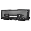 11-14 GMC Sierra 2500HD/3500HD All Evolution All Black Stainless Steel Wire Mesh Packaged Grille With Three LED Lights for GMC Sierra