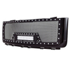 07-13 GMC Sierra 1500 All Evolution All Black Stainless Steel Wire Mesh Packaged Grille With One LED Light for GMC Sierra