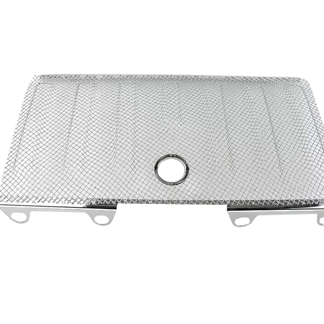 Jeep Jk Wrangler 3D Mesh Grille Material: Stainless Steel With or without Lock Hole (Chrome) for Jeep Wrangler JK