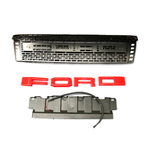 2012 Ford Ranger T6 Grill With Led Black, Letter Color: Red/White/Blk/Silver