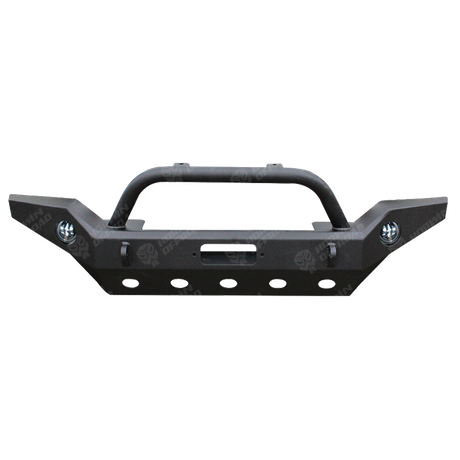 07-16 Jeep Wrangler JK Front Full Width Bumper W/Stinger&OE Fog Light Housing